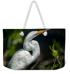 Weekender Tote Bag featuring the photograph White Egret 2 by Christopher Holmes