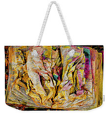 Within Pages Of Gold Weekender Tote Bag
