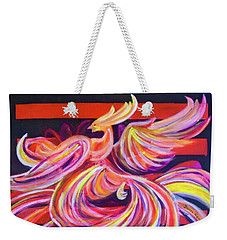 Weekender Tote Bag featuring the painting Without Darkness There Is No Radiance by Denise Weaver Ross