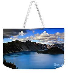 Wizard Island Stormy Sky- Crater Lake Weekender Tote Bag