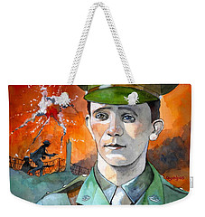 Weekender Tote Bag featuring the painting W.j. Symons Vc by Ray Agius