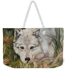 Wolf Among Foxtails Weekender Tote Bag