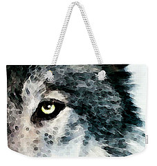Wolf Art - Timber Weekender Tote Bag by Sharon Cummings