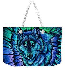 Wolf Aurora Weekender Tote Bag