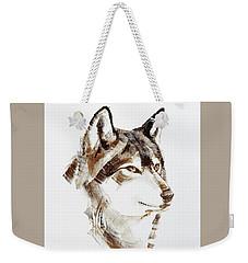 Wolf Head Brush Drawing Weekender Tote Bag