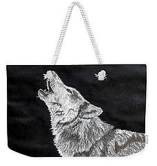 Wolf Howl Weekender Tote Bag by Stan Hamilton
