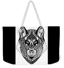 Wolf Weekender Tote Bag by Jan Steinle