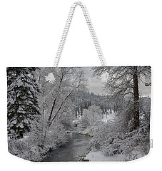 Wolf Lodge Creek Winter Weekender Tote Bag
