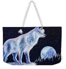 Wolf Moon Weekender Tote Bag by Angela Treat Lyon