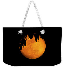 Weekender Tote Bag featuring the photograph Wolf Moon by Mark Andrew Thomas