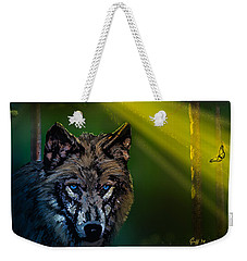 Wolf Of The Dark Wood Weekender Tote Bag by J Griff Griffin