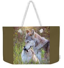 Wolf Soul Mates Weekender Tote Bag
