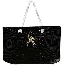 Wolf Spider And Web Weekender Tote Bag by Mark McReynolds