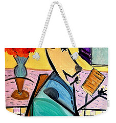 Weekender Tote Bag featuring the painting Wolfgang by Bill OConnor