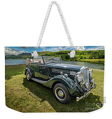 Weekender Tote Bag featuring the photograph Wolseley Classic Car by Adrian Evans