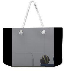 Wolverine Helmet In Heavy Morning Fog Weekender Tote Bag