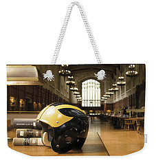 Wolverine Helmet In Law Library Weekender Tote Bag