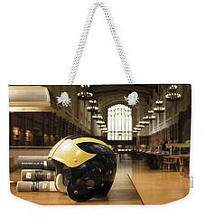 Wolverine Helmet In Law Library Weekender Tote Bag