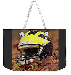 Wolverine Helmet In October Leaves Weekender Tote Bag