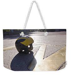 Wolverine Helmet On The Diag Weekender Tote Bag