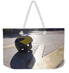 Wolverine Helmet On The Diag Weekender Tote Bag