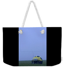 Wolverine Helmet On The Field In Heavy Fog Weekender Tote Bag