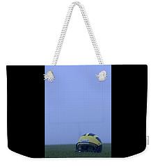 Wolverine Helmet On The Field In Heavy Fog Weekender Tote Bag