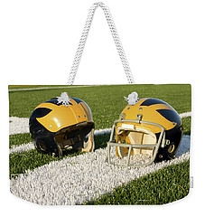 Wolverine Helmets From Different Eras On The Field Weekender Tote Bag