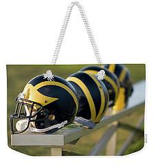Wolverine Helmets On A Bench Weekender Tote Bag