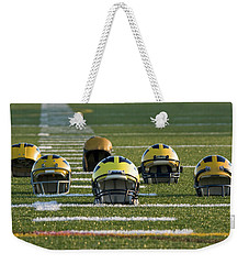 Wolverine Helmets Throughout History On The Field Weekender Tote Bag