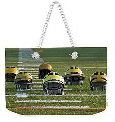 Wolverine Helmets Throughout History On The Field Weekender Tote Bag