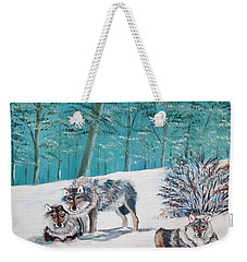 Wolves In The Wild Weekender Tote Bag