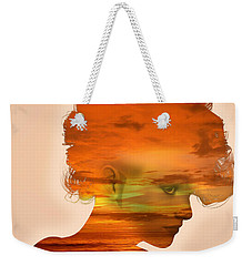 Woman And A Sunset Weekender Tote Bag