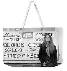 Woman Contemplates Scallops, 1972 Weekender Tote Bag