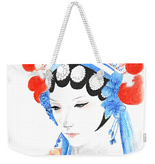 Woman From Chinese Opera With Tattoos -- The Original -- Asian Woman Portrait Weekender Tote Bag