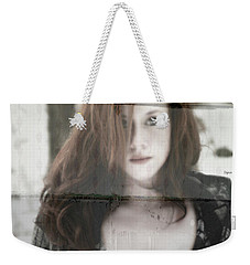 Weekender Tote Bag featuring the photograph Woman From The Outside  by Jacob Smith