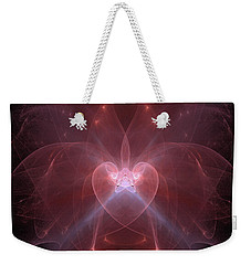 Weekender Tote Bag featuring the photograph Woman Heart Aglow by Ronda Broatch