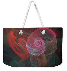 Weekender Tote Bag featuring the digital art Woman Heart With Moon Shell by Ronda Broatch