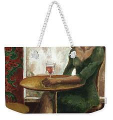 Woman In A Paris Cafe Weekender Tote Bag