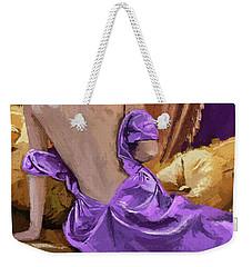 Woman In A Purple Dress Weekender Tote Bag