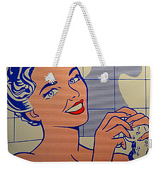 Woman In Bath Weekender Tote Bag by Roy Lichtenstein