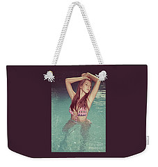 Woman In Bikini In The Water And Retro Look Image Finish Weekender Tote Bag