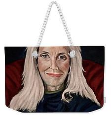 Woman In Red Chair Weekender Tote Bag