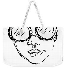 Woman In Sunglasses Weekender Tote Bag