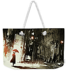 Woman In The Destroyed City Weekender Tote Bag