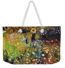 Woman In The Garden After Renoir Weekender Tote Bag