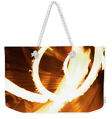 Woman On Fire Weekender Tote Bag