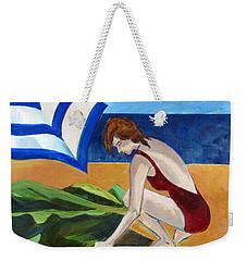 Woman On The Beach Weekender Tote Bag