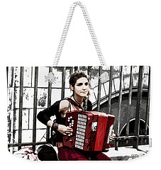Woman Playing Accordion Weekender Tote Bag