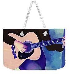 Woman Playing Guitar Weekender Tote Bag